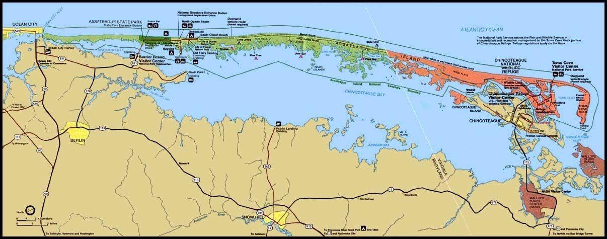 Ateague Island Map