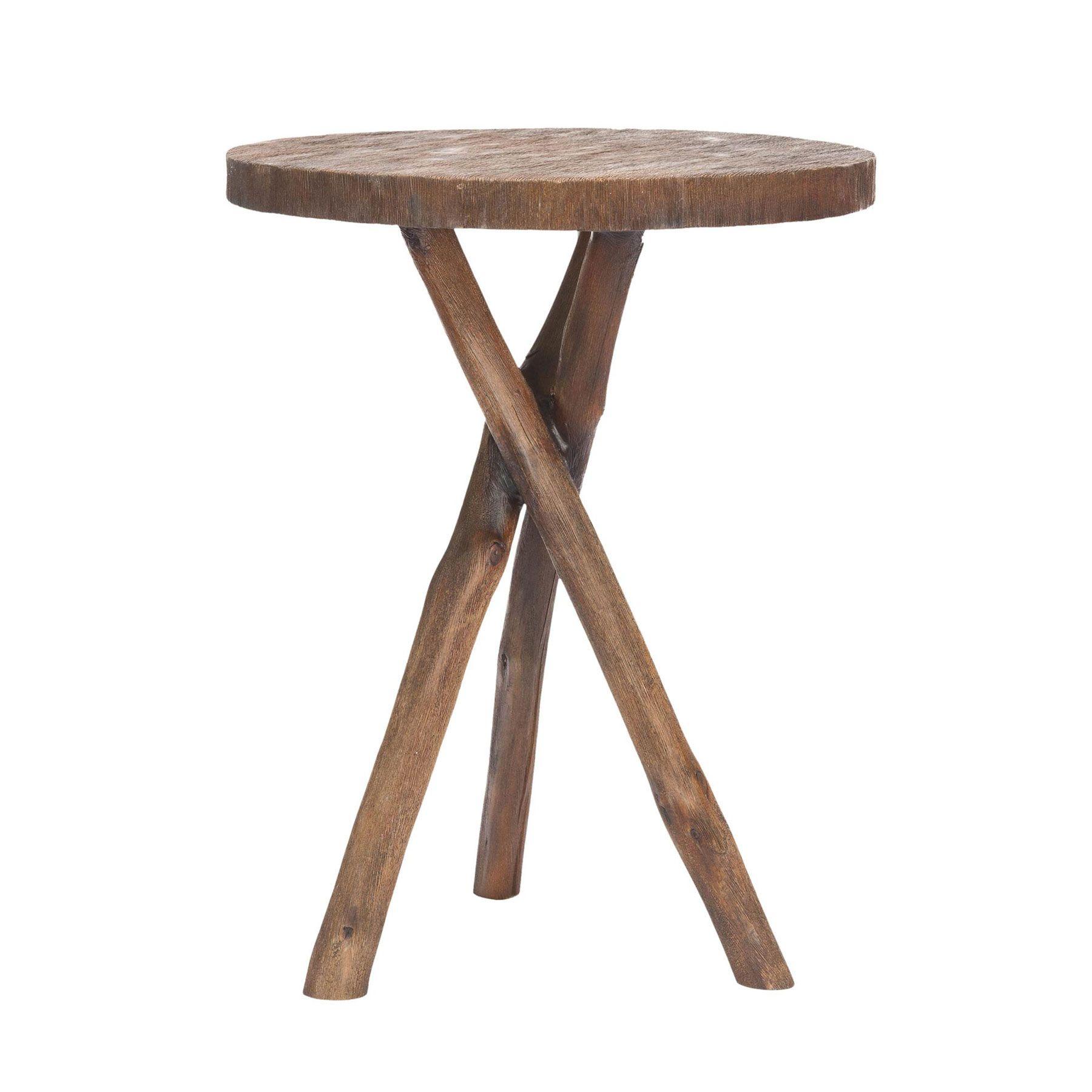 Rustic Tripod Table | Dotandbo.com