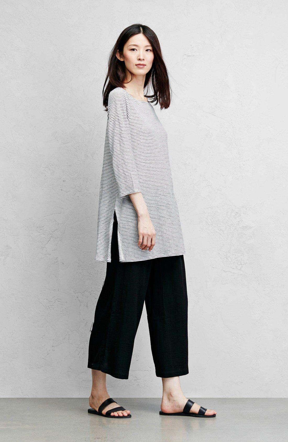 Eileen Fisher Tunic & Pants | traje con blusón | Pinterest | Moda ...