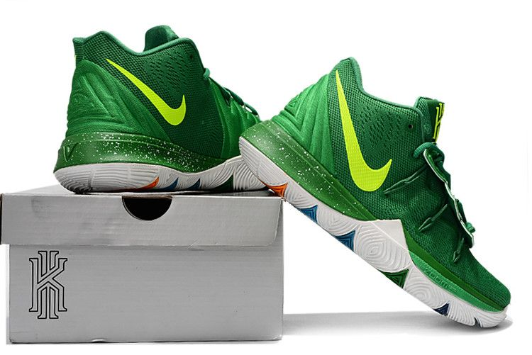 25389b467eb4 Buy Nike Kyrie 5 Green Volt-White Basketball Shoes Online in 2019 ...