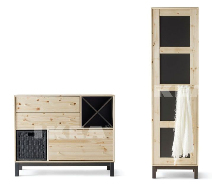 #IKEA #NORNÄS #cabinet Collection, Made In Sweden From Swedish Pine