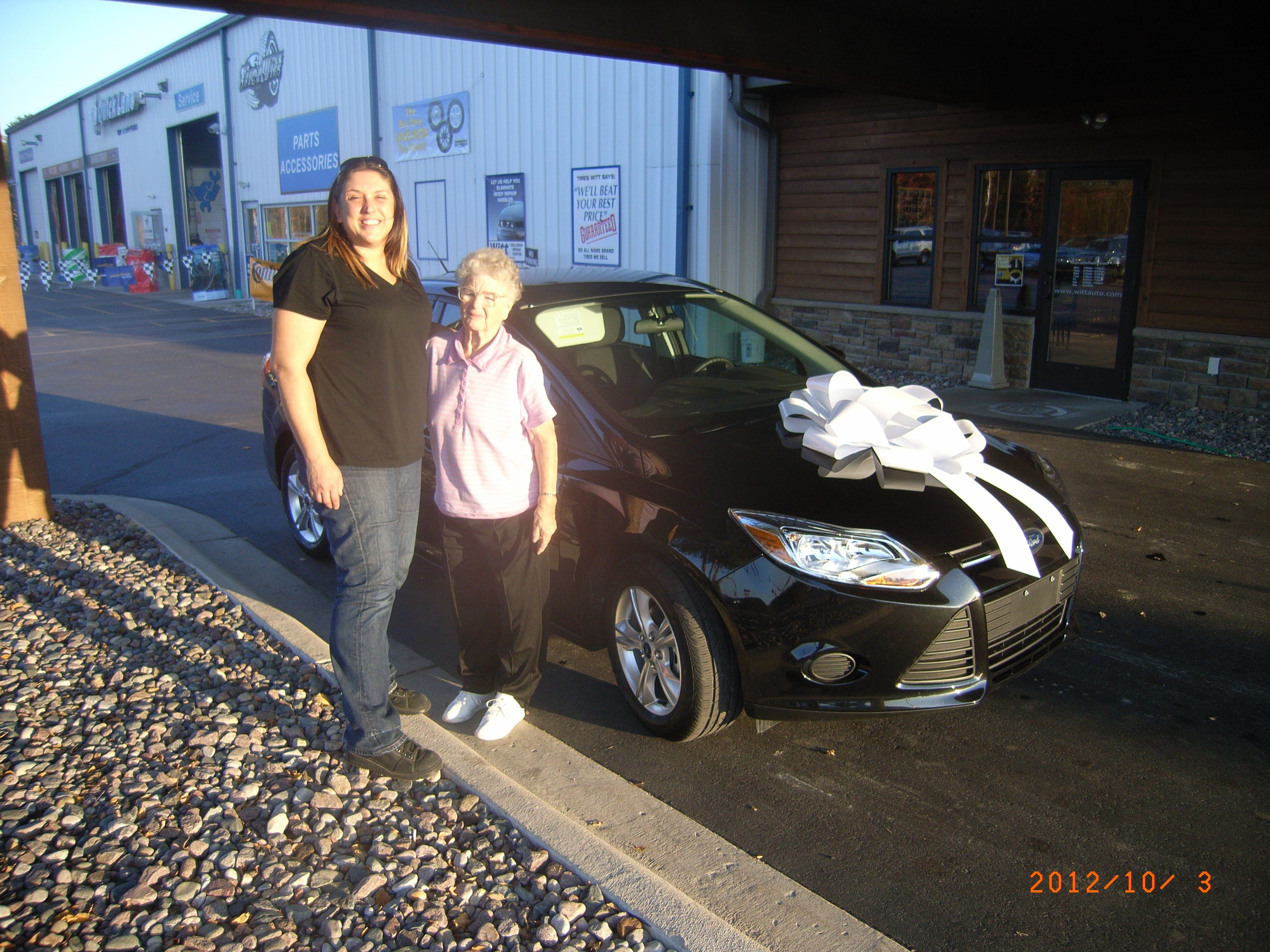 Angela and Ada with their new Focus   www.wittauto.com