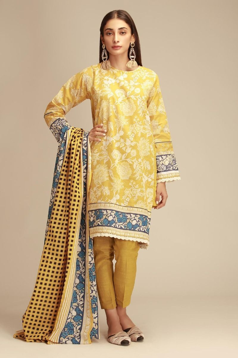 38d0827fafe Unstitched Khaddar Shalwar Kameez by Khaadi Winter Collection with Prices -  Yellow Pakistani Dress Price  2200  wintercollection  readytowear  pret ...