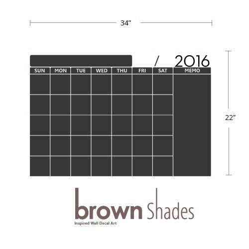 2018 monthly wall planner chalkboard decal apartment pinterest