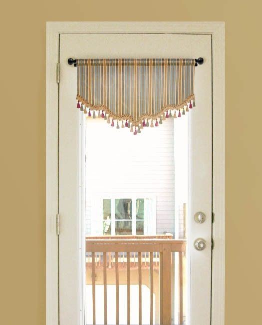 Carolina Valance For French Door Or Narrow Window Valance Custom Window Treatments French Doors