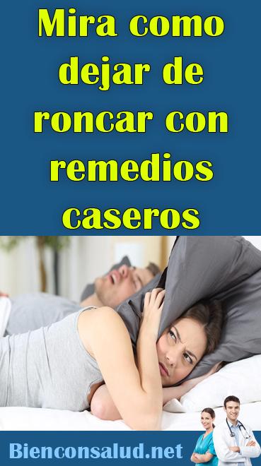 Como Dejar De Roncar Remedios Caseros Mira Como Dejar De Roncar Con Remedios Caseros Salud Cuerpo