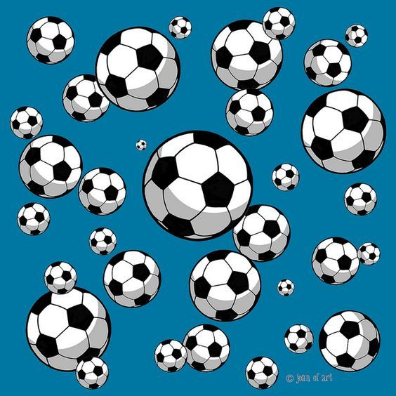 Soccer ball pattern - blue background | Flickr - Photo Sharing!: