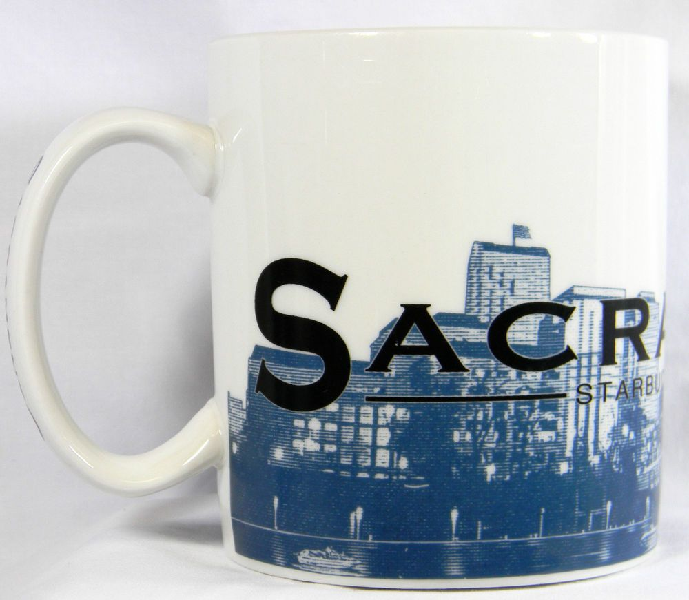 Starbucks #Sacramento Mug Skyline Series Barista 2002 #Coffee Cup 18 oz #California #Starbucks