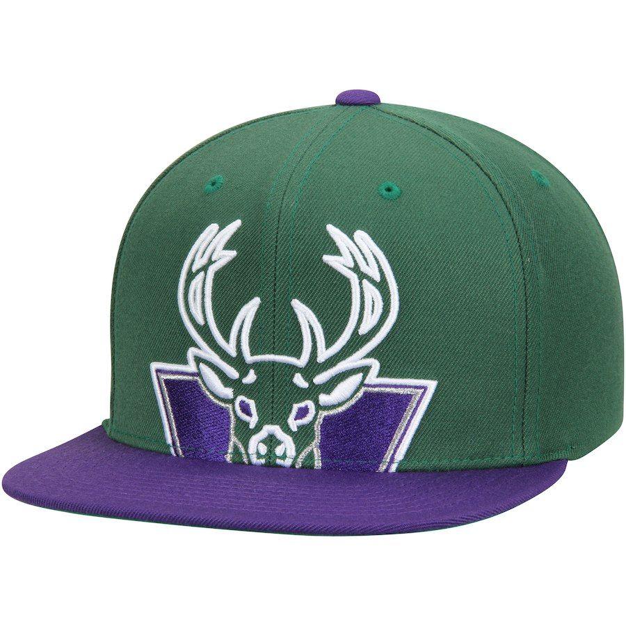 brand new 049bb 8b793 Men s Milwaukee Bucks Mitchell   Ness Hunter Green Hardwood Classics Cropped  XL Logo Snapback Adjustable Hat, Your Price   31.99