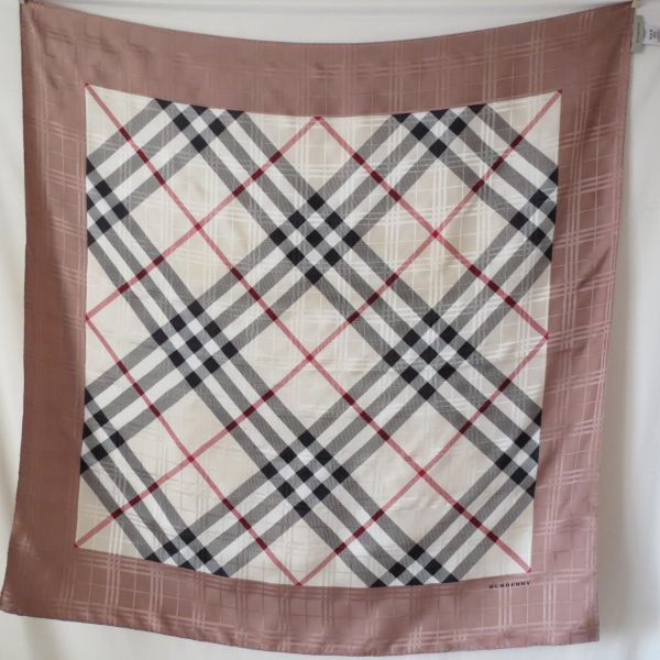 eb448b794c0b burberry motif check, genuine silk scarf, carré twill de soie ...