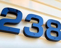 GARDENmarx 6 inch high-gloss italic address numbers | House