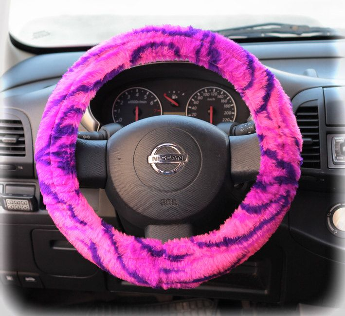 Steering wheel cover for wheel car accessories Neon Violet Pink ...