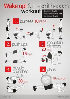 25 Quick Workouts | Workout | Ejercicios, Ejercicios de