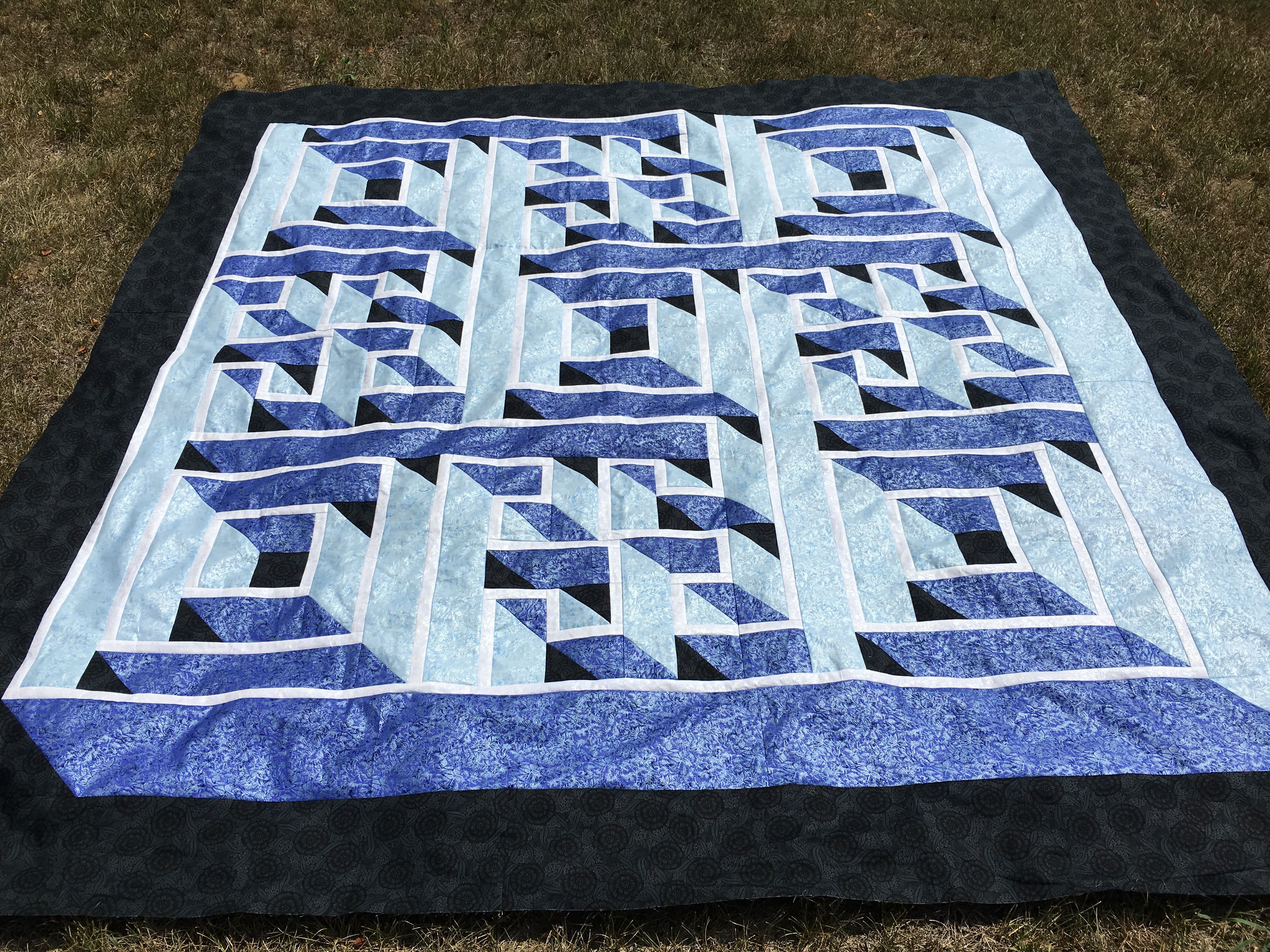 My Labyrinth Walk quilt. I used this for the back of my Farmer's ... : labyrinth quilt pattern - Adamdwight.com