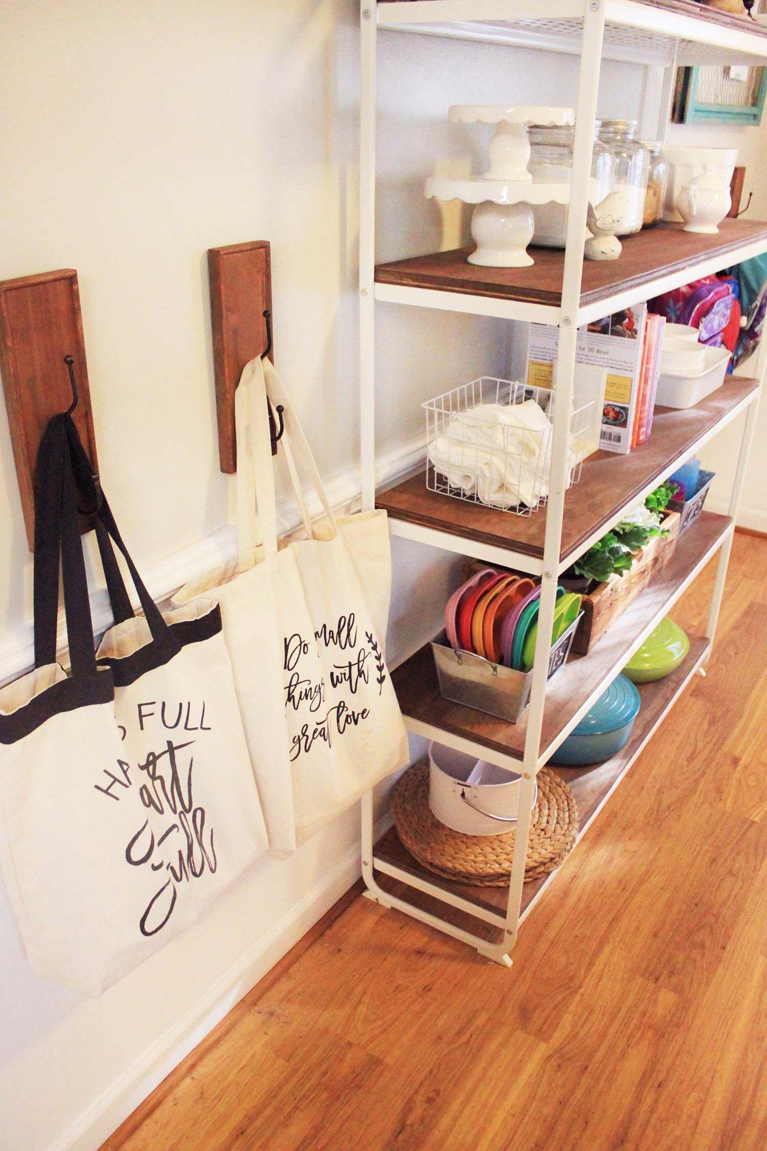 DIY IKEA Shelving Unit Farmhouse Makeover | Ikea shelving ...