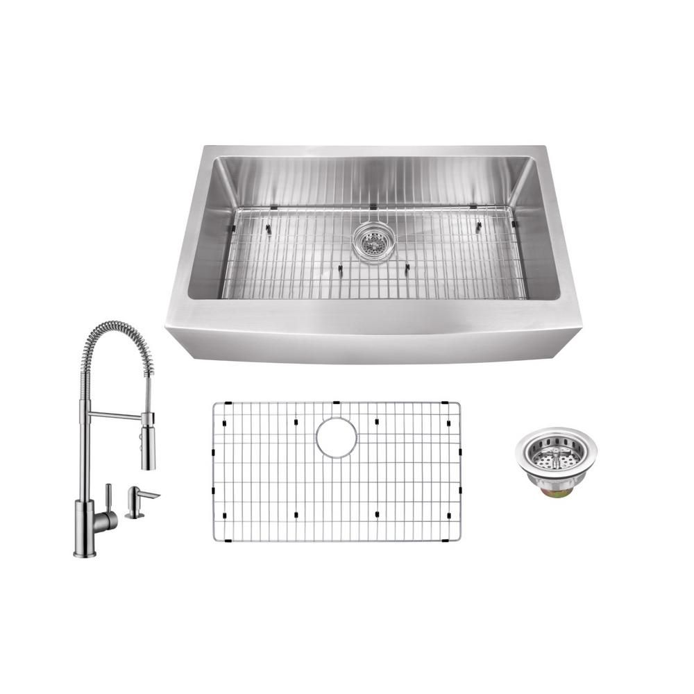 Ipt Sink Company All In One Apron Front Stainless Steel 30 In