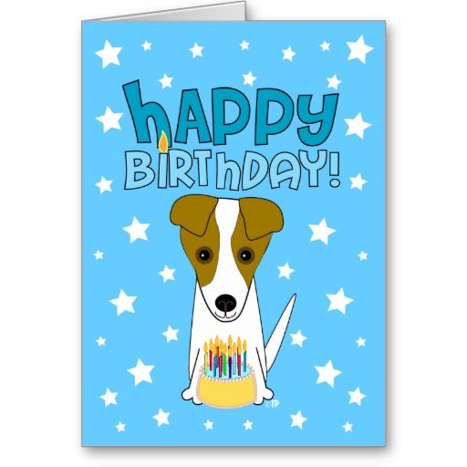 Happy Birthday Jack Russell Terrier Card Zazzle Com Dog