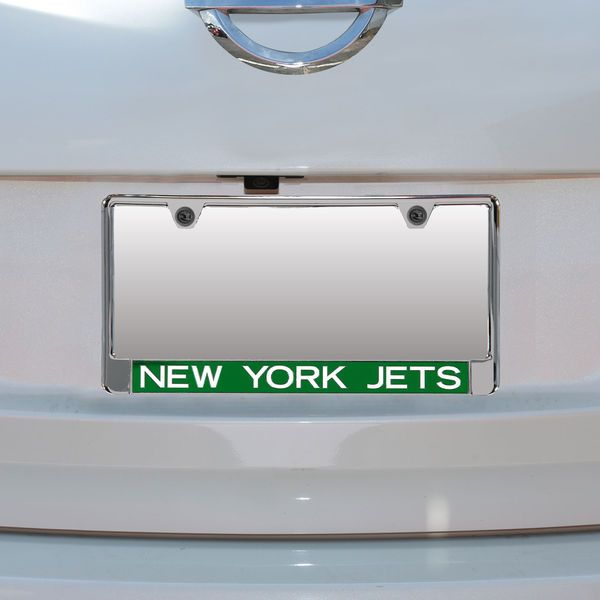 New York Jets Mirror With Color Letters License Plate Frame ...