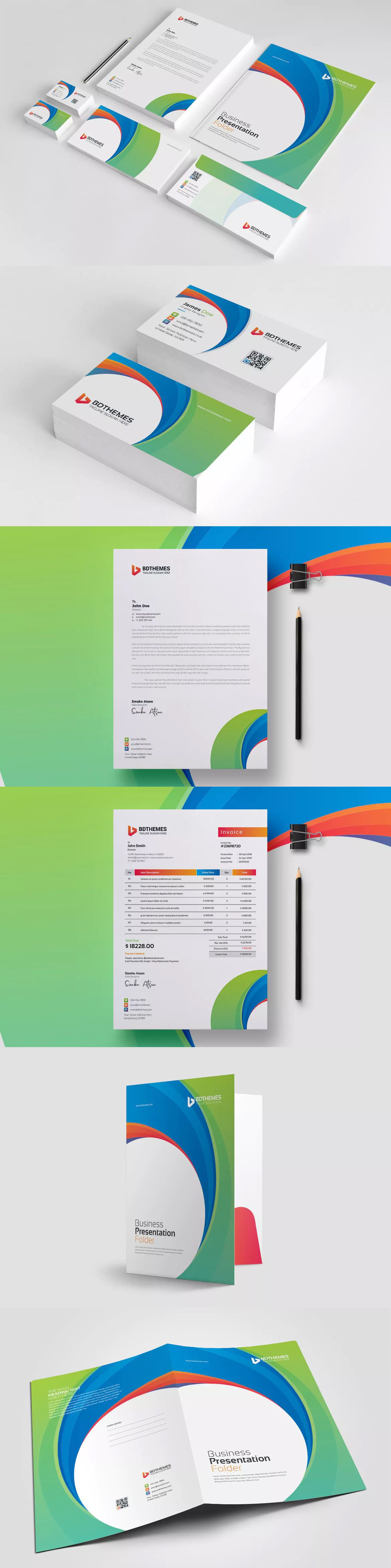 Business stationery template 21 ai eps psd stationery and business stationery template 21 ai eps psd cheaphphosting Gallery