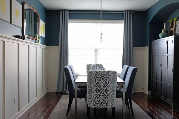 Teal colored dining rooms dining room modern dining for Teal dining room ideas