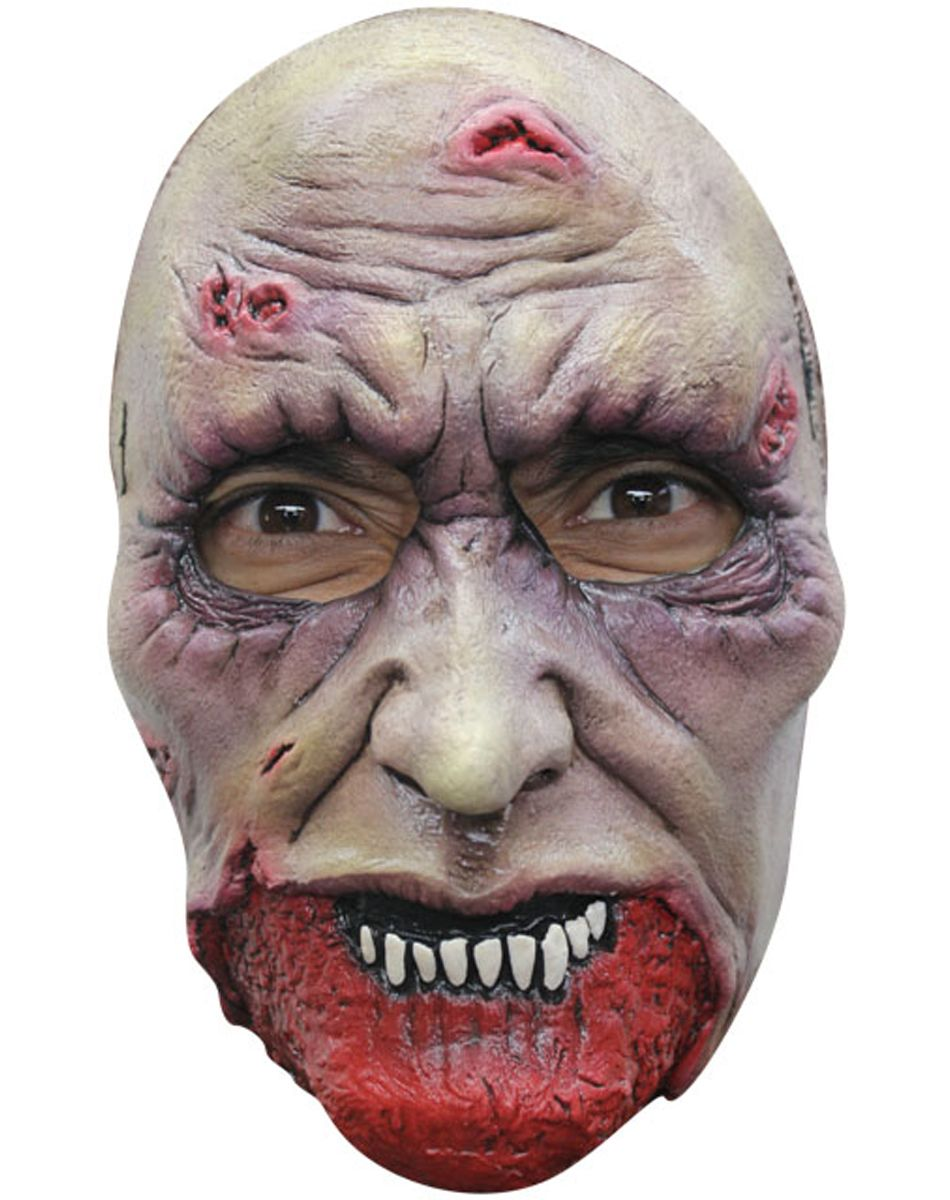 Chiller Zombie Mask | Zombie mask, Scary halloween masks and ...