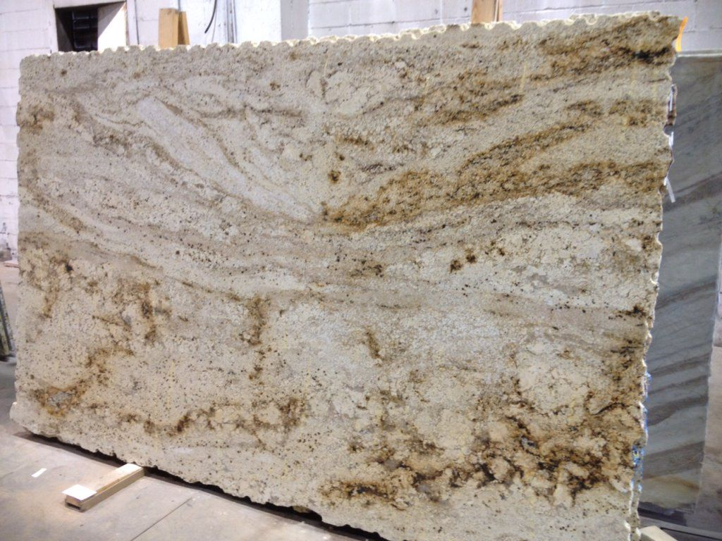 Sienna Cream Is A Very Light Colored Grey Granite. It Is Usually Marked  With Darker