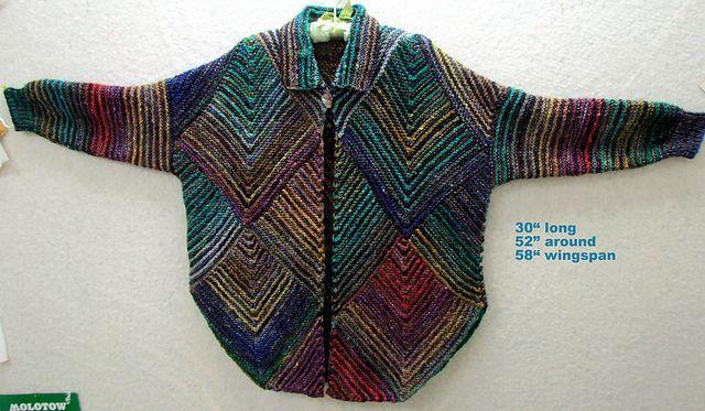 Ravelry: Fibermania's Mitered Diamond Jacket-Silk Garden+ Rios