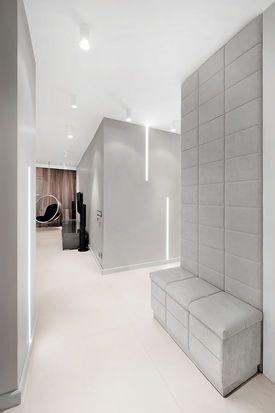 Przedpokoj Galeria Wnetrz Aranzacja I Wystroj Wnetrz Upholstered Walls Home Room Design Modern Entry
