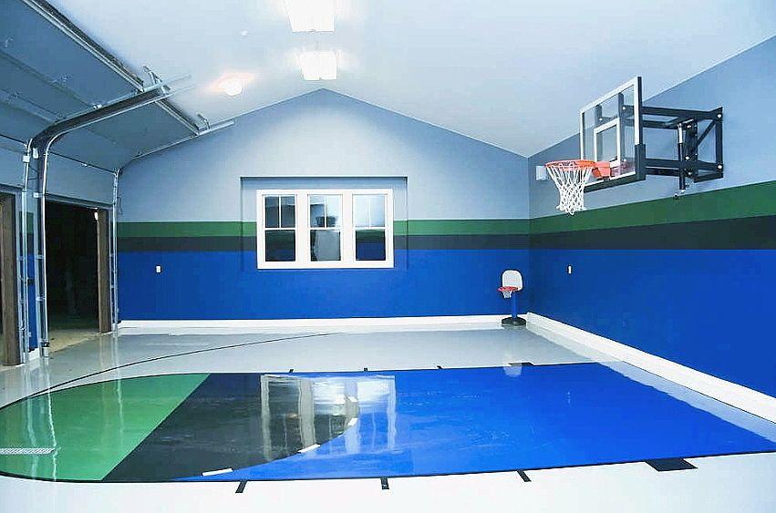 Private/Home Basketball Gym Home basketball court, Home