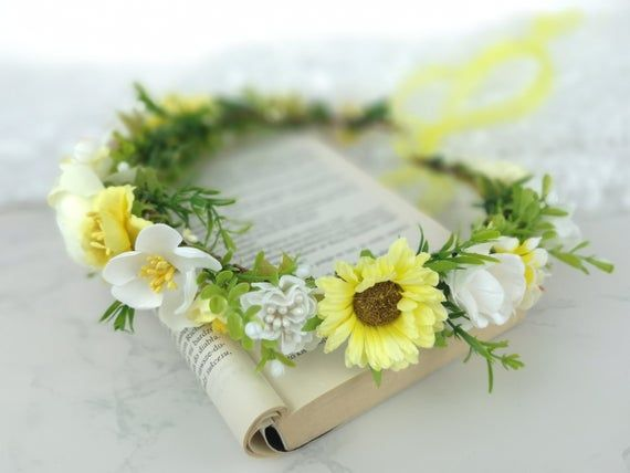 Photo of Flower rone flower wreath flower wreath hair wreath flower wreath flower band hair-ripe crown diadem hairband flower band boho hippie-BK87