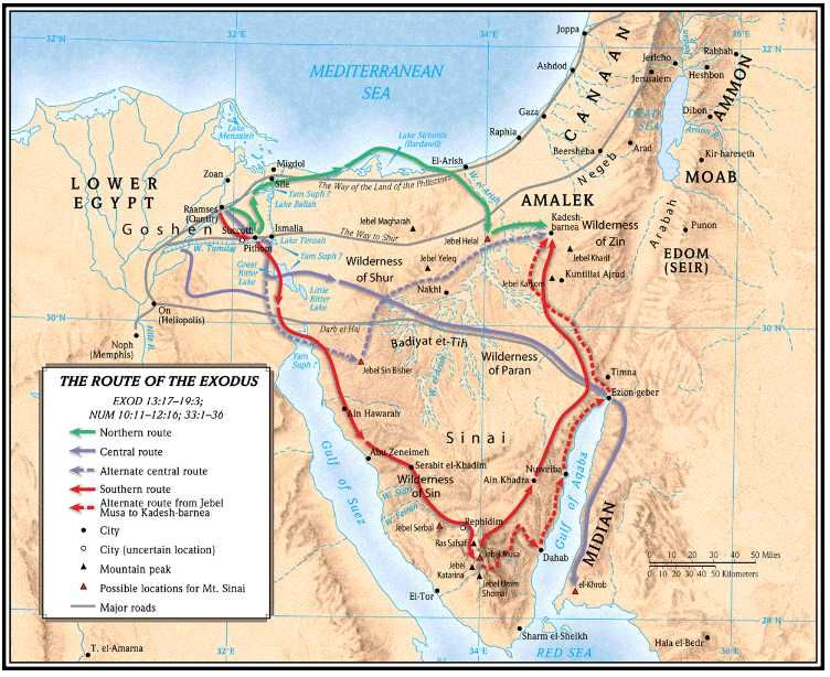 Red Sea Crossing Map - Google Search