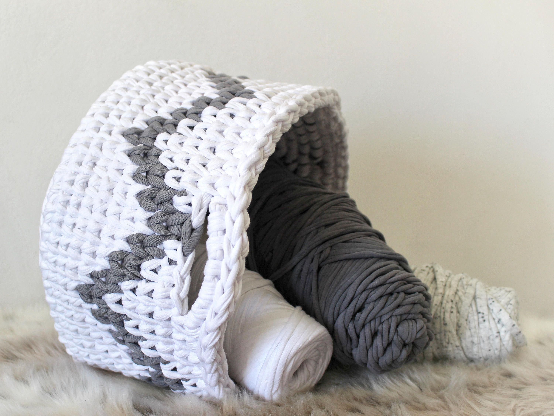 zig zag chevron basket pattern, modern and fun! | CROCHET LOVERS ...