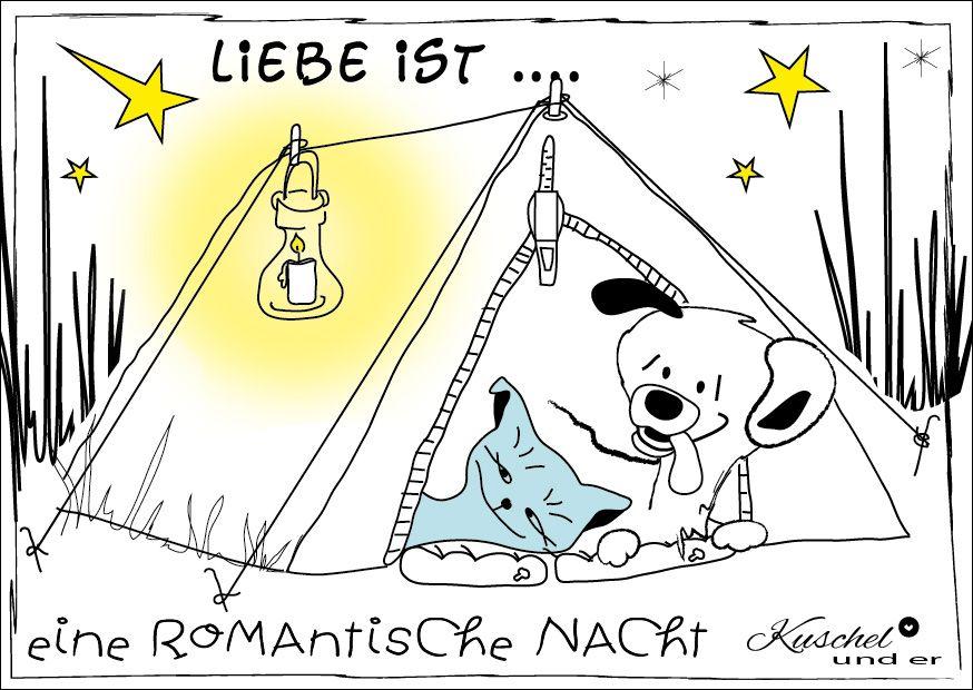 kuschel und er - romantische nacht | postkarten lustig, liebe, Einladung