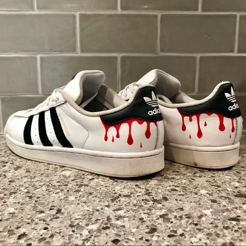 Adidas Shoes | Custom Adidas Superstar | Color: White | Size: 10