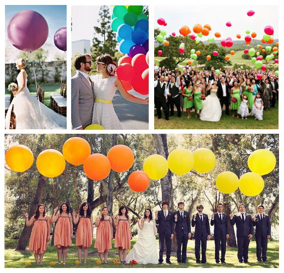 colorful balloons are so bold and fun, who can resist them??