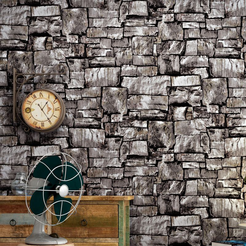 Cheap Efecto 3d De La Vendimia De Imitacion De Piedra De Ladrillo Pintado Pared Para Salon Dormitor Brick Effect Wallpaper Brick Wall Wallpaper Brick Wallpaper