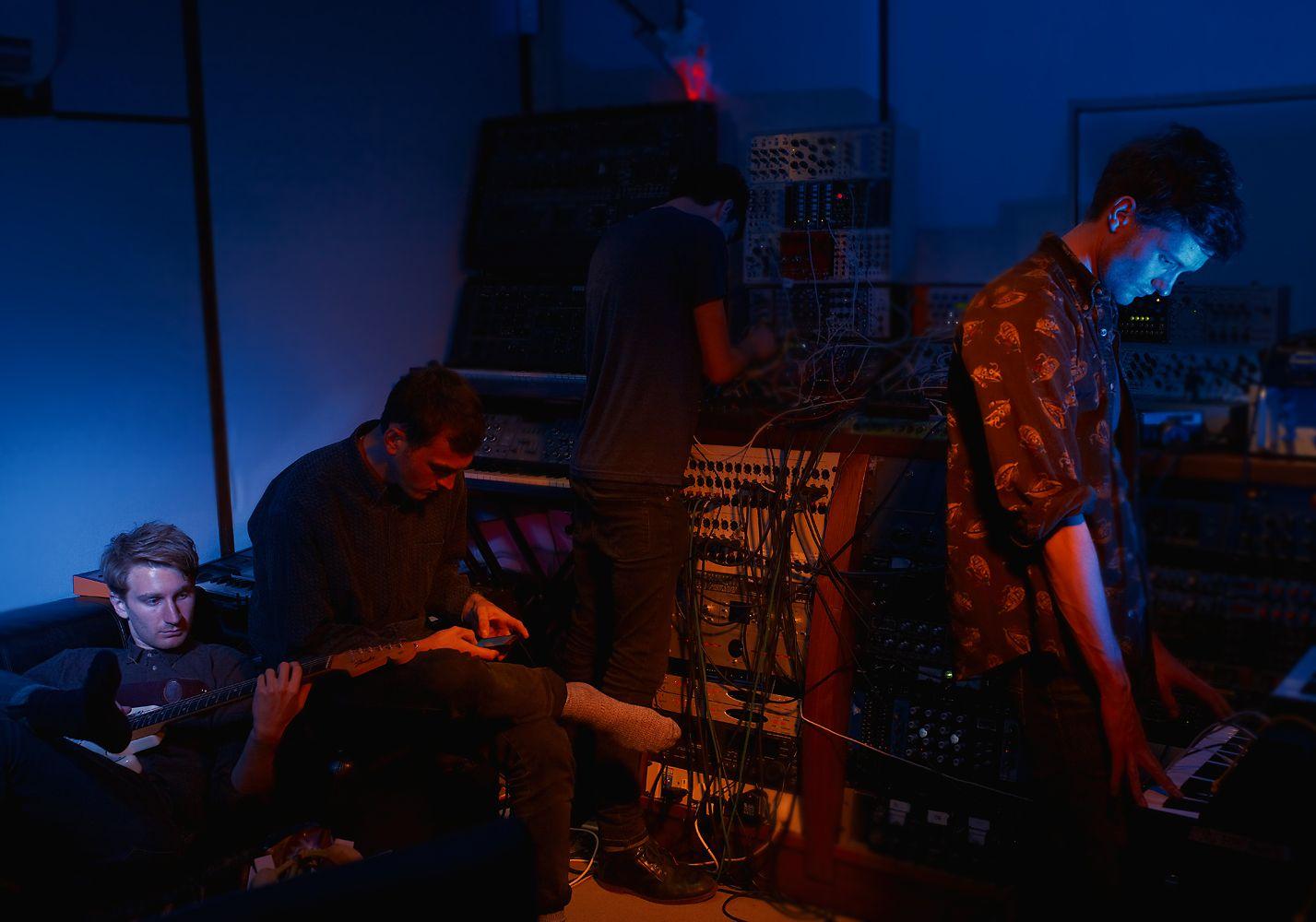 Dave Bayley, Joe Seaward, and Drew Macfarlane from Glass Animals
