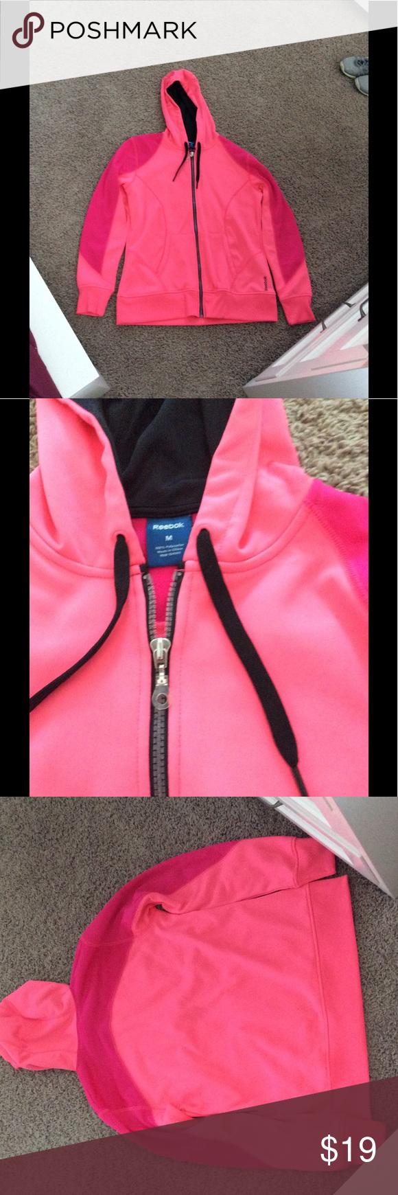 Hot Pink Athletic Jacket Nwot Athletic Reebok Jacket Hot Pink And Magenta Colors 2 Pockets Drawstring Hood New Witho Athletic Jacket Clothes Design Jackets [ 1740 x 580 Pixel ]