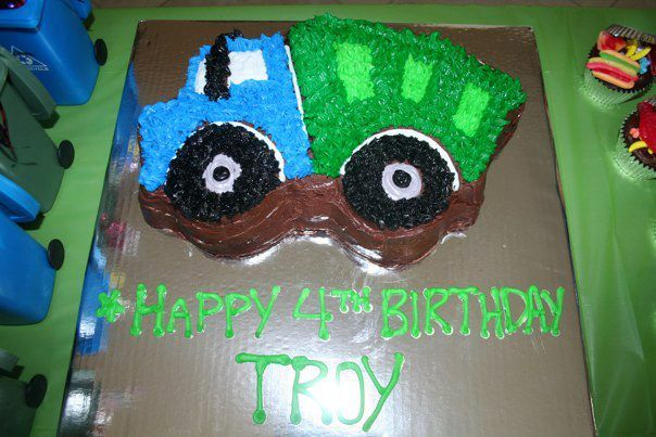 Trash Or Garbage Truck Party Cake Wilton Dump Truck Cake
