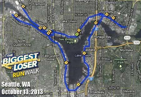 Seattle Half Marathon Map | Home | Pinterest | Half marathons ...