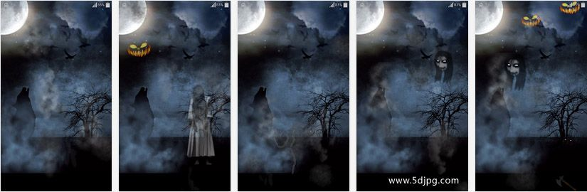 the halloween live wallpaper is an amazing wallpaper you will interact with ghosts monsters scary faces etc using the touch