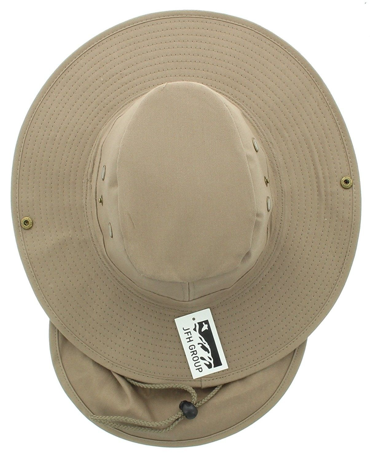 714791f1 Hats & Caps, Men's Hats & Caps, Sun Hats, JFH Wide Brim Bora Booney Outdoor  Safari Summer Hat w/Neck Flap & Sun Protection - Khaki Solid - CP183K4ETE3 # caps ...