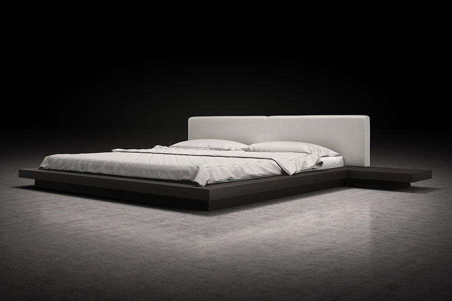 Akita Low Profile Japanese Platform Bed Modern Digs Modern Platform Bed Low Profile Bed Frame Japanese Platform Bed