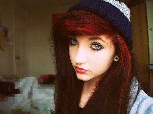dark red hair tumblr - Google Search | hair | Pinterest | Dark red ...