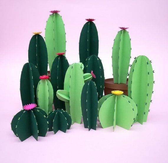 Make Your Own Cactus !!! THIS IS A DIGITAL DOWNLOAD A Zip