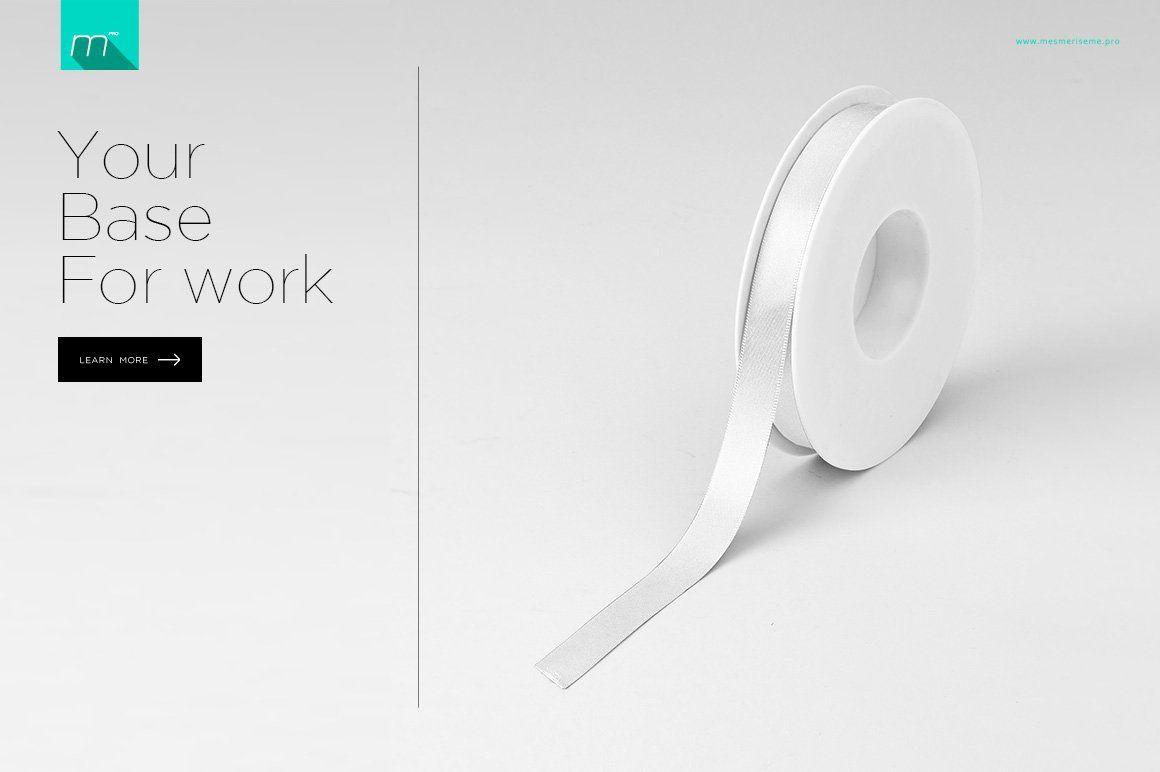 Ribbon Mock Up Brochure Design Template Mockup Branding Mockups