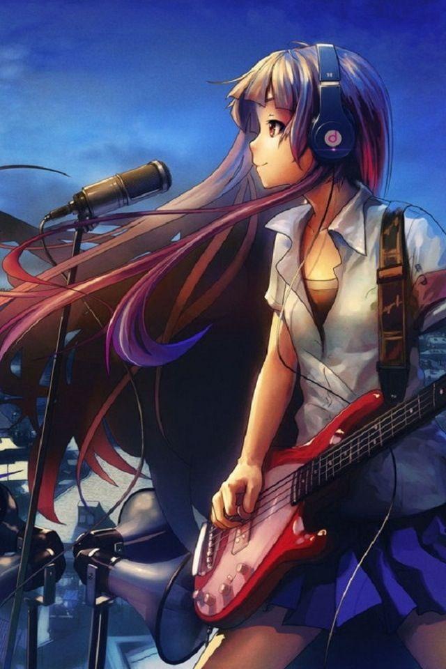 Anime Guitar Singer Girl Lovely Blend Of Colors Anime Anime