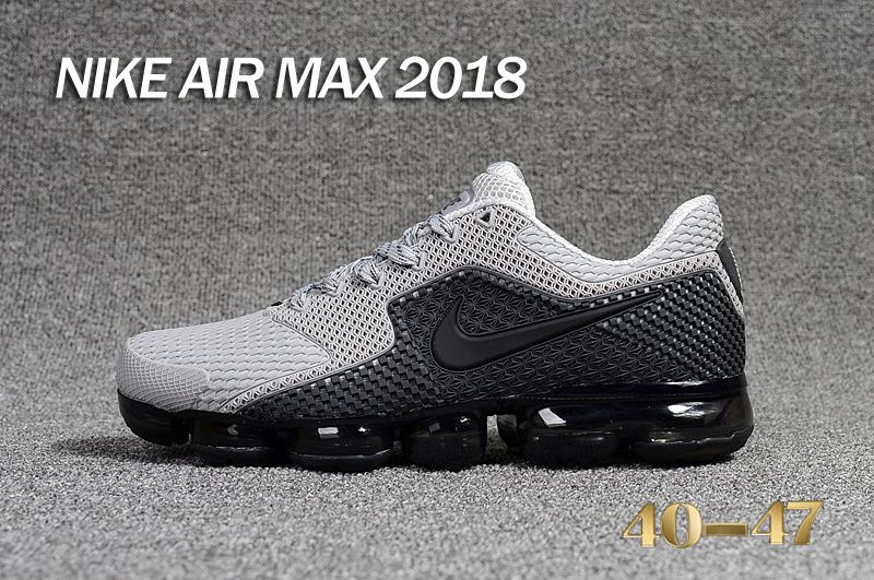 brand new c37b5 108de ... coupon for new nike air max 2018.5 kpu gray black men sneakers fdd10  fc7cc