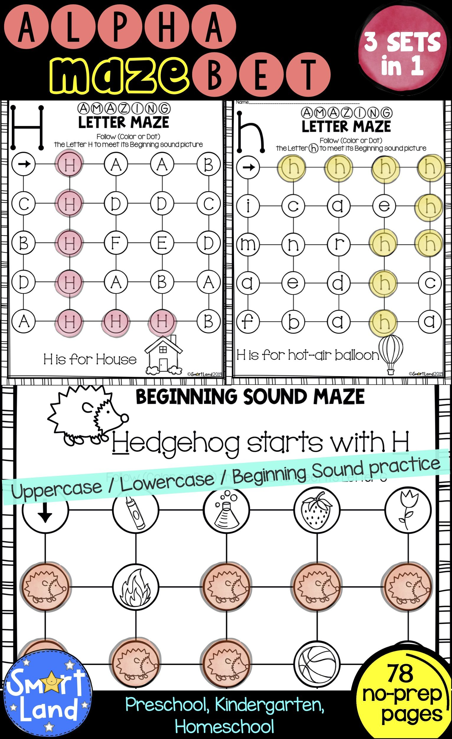 Alphabet Practice 3sets Of Letter Mazes