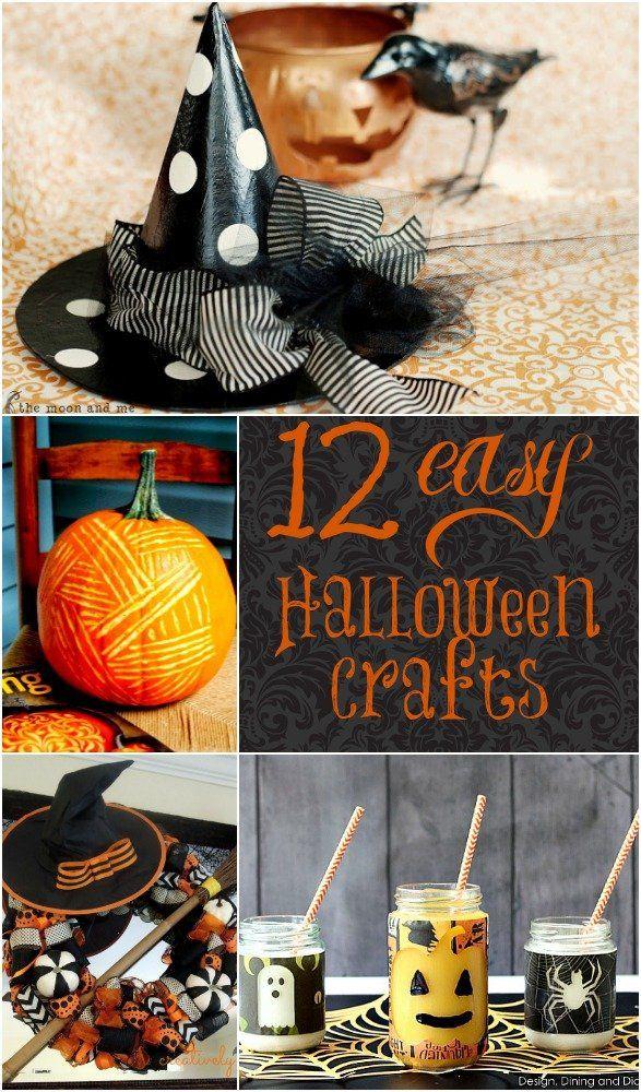 12 Easy DIY Halloween Crafts Halloween crafts, Easy